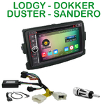 Pack autoradio Android GPS Dacia Duster, Dokker, Lodgy & Sandero - WIFI Bluetooth écran tactile HD