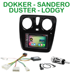 Pack autoradio Android GPS Dacia Duster, Dokker, Lodgy et Sandero depuis 2012 - WIFI Bluetooth écran tactile HD