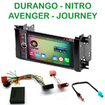 Pack autoradio Android GPS Dodge Avenger Charger Dakota Durango Grand Caravan Journey depuis 2008 - WIFI Bluetooth écran tactile HD