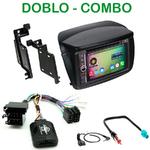 Pack autoradio Android GPS Fiat Doblo depuis 2010 et Opel Combo depuis 2012 - WIFI Bluetooth écran tactile HD