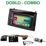 Pack autoradio Android GPS Fiat Doblo et Opel Combo depuis 2015 - WIFI Bluetooth écran tactile HD
