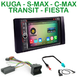 Pack autoradio Android GPS Ford Kuga, C-Max, S-Max, Fiesta, Focus, Fusion, Transit, Mondeo - WIFI Bluetooth écran tactile HD