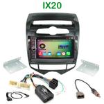 Pack autoradio Android GPS Hyundai ix20 (clim. automatique) depuis 2010 - WIFI Bluetooth écran tactile HD