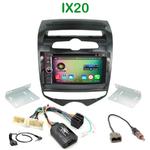 Pack autoradio Android GPS Hyundai ix20 (clim. manuelle) depuis 2010 - WIFI Bluetooth écran tactile HD