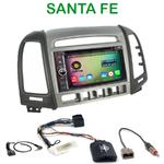 Pack autoradio Android GPS Hyundai Santa Fe de 2006 à 2012 (avec 4 boutons) - WIFI Bluetooth écran tactile HD