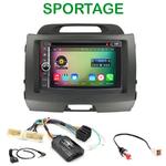 Pack autoradio Android GPS Kia Sportage de 08/2010 à 2014 - WIFI Bluetooth écran tactile HD
