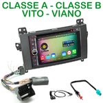 Pack autoradio Android GPS Mercedes Benz Classe A, Classe B, Vito, Viano - WIFI Bluetooth écran tactile HD