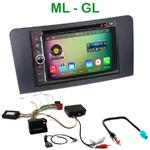 Pack autoradio Android GPS Mercedes Benz ML W164 & GL X164 de 2005 à 2012 - WIFI Bluetooth écran tactile HD