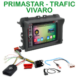 Pack autoradio Android GPS Nissan Primastar, Opel Vivaro & Renault Trafic de 2011 à 2014 - WIFI Bluetooth écran tactile HD