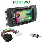Pack autoradio Android GPS Smart ForTwo de 2007 à 08/2010 - WIFI Bluetooth écran tactile HD