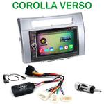 Pack autoradio Android GPS Toyota Corolla Verso de 2004 à 2009 - WIFI Bluetooth écran tactile HD