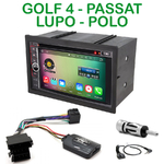 Pack autoradio Android GPS Vokswagen Golf 4, Lupo, Passat et Polo - WIFI Bluetooth écran tactile HD