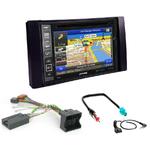 Pack autoradio GPS Ford C-Max Kuga Focus Fiesta Fusion Transit S-Max et Galaxy (gris ou noir) - iLX-702D, iLX-F903D, INE-W990HDMI ou INE-W710D au choix