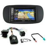 Pack autoradio GPS Fiat 500 depuis 2007 (façade beige ou noire) - INE-W990HDMI, INE-W710D, INE-W987D ou ILX-702D au choix