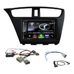 Autoradio Navigation CarPlay et Android Auto DNX5180BTS, DNX451RVS ou DNX8180DABS Honda Civic de 2012 à 2016 (modèle 5 portes)