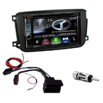 Autoradio Navigation CarPlay et Android Auto DNX5180BTS, DNX451RVS ou DNX8180DABS Smart ForTwo depuis 09/2010