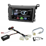 Autoradio Navigation CarPlay et Android Auto DNX5170BTS, DNX450TR ou DNX8170DABS Toyota RAV4 depuis 2013