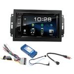 Chrysler 300C, Town & Country, Sebring et Aspen avec REJ d'origine : Poste radio 2-DIN avec CD/USB/Bluetooth avec ou sans écran tactile