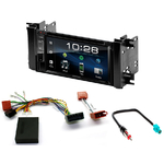 Jeep Commander, Grand Cherokee, Liberty & Wrangler : Poste radio 2-DIN avec CD/USB/Bluetooth avec ou sans écran tactile