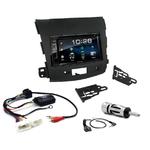 Citroën C-Crosser, Mitsubishi Outlander & Peugeot 4007 : Poste radio 2-DIN avec CD/USB/Bluetooth avec ou sans écran tactile
