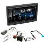 Citroën C2, C3, Berlingo, Jumpy, Fiat Scudo et Peugeot 207 307 Expert et Partner : Poste radio 2-DIN avec CD/USB/Bluetooth avec ou sans écran tactile