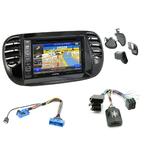 Pack autoradio GPS Fiat 500 de 2007 à 2015 (façade beige ou noire) - iLX-702D, iLX-F903D, INE-W990HDMI ou INE-W710D au choix