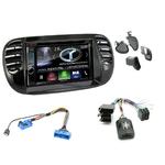 Autoradio Navigation CarPlay et Android Auto DNX5180BTS, DNX451RVS ou DNX8180DABS Fiat 500 de 2007 à 2014