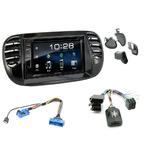 Fiat 500 de 2007 à 2015 : Poste radio 2-DIN avec CD/USB/Bluetooth avec ou sans écran tactile