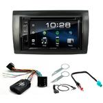 Fiat Bravo de 2007 à 2014 :  Poste radio 2-DIN avec CD/USB/Bluetooth avec ou sans écran tactile