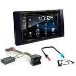 Ford C-Max, Kuga, Focus, Fiesta, Fusion, Transit, S-Max : Poste radio 2-DIN avec CD/USB/Bluetooth avec ou sans écran tactile