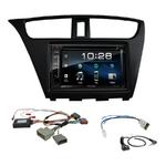 Honda Civic 5 portes depuis 2012 : Poste radio 2-DIN avec CD/USB/Bluetooth avec ou sans écran tactile