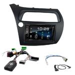 Honda Civic 5 portes de 2006 à 2011 : Poste radio 2-DIN avec CD/USB/Bluetooth avec ou sans écran tactile
