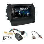 Hyundai Santa Fe de 2013 à 2018 : Poste radio 2-DIN avec CD/USB/Bluetooth avec ou sans écran tactile