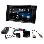 Kia Ceed de 2006 à 2009 : Poste radio 2-DIN avec CD/USB/Bluetooth avec ou sans écran tactile
