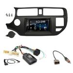 Kia Rio de 09/2011 à 2015 : Poste radio 2-DIN avec CD/USB/Bluetooth avec ou sans écran tactile
