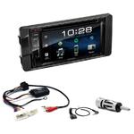 Mitsubishi Outlander, Lancer et ASX de 2013 à 2018 : Poste radio 2-DIN avec CD/USB/Bluetooth avec ou sans écran tactile