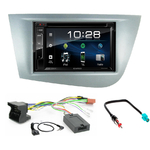 Seat Leon de 09/2005 à 2010 : Poste radio 2-DIN avec CD/USB/Bluetooth avec ou sans écran tactile