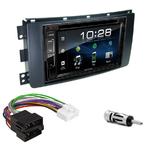 Smart ForTwo de 2007 à 08/2010 : Poste radio 2-DIN avec CD/USB/Bluetooth avec ou sans écran tactile