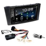 Toyota Avensis de 02/2003 à 2009 : Poste radio 2-DIN avec CD/USB/Bluetooth avec ou sans écran tactile