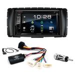 Toyota Hilux de 2012 à 2015 : Poste radio 2-DIN avec CD/USB/Bluetooth avec ou sans écran tactile