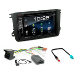 Volkswagen Touran, Eos, Scirocco, Golf V & VI, Tiguan, Polo, Passat CC, Caddy, Jetta & T5 : Poste radio 2-DIN avec CD/USB/Bluetooth avec ou sans écran tactile