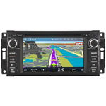 Autoradio Android 9.1 GPS Jeep Commander, Compass, Grand Cherokee, Patriot & Wrangler - WIFI Bluetooth écran tactile HD