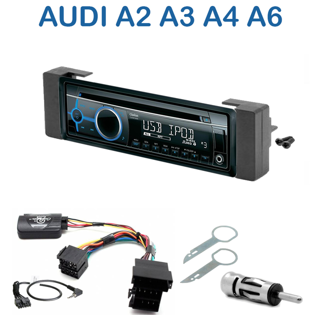 Autoradio audi a2 de 2000 2005 a3 de 2000 a4 de 1999 for Mueble 2 din audi a3
