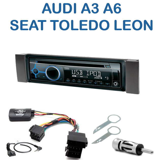 autoradio 1 din audi a3 a6 seat leon toledo avec cd usb mp3 bluetooth audi autoradios. Black Bedroom Furniture Sets. Home Design Ideas