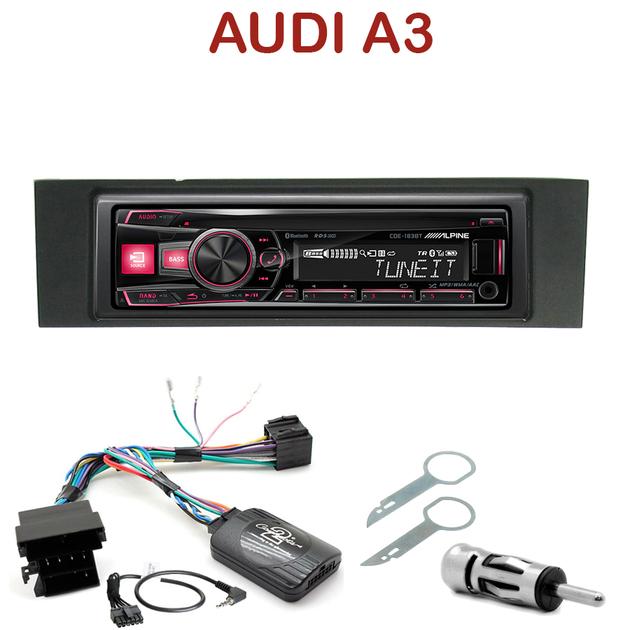 autoradio 1 din audi a3 8p 8pa poste cd usb mp3 bluetooth alpine audi autoradios. Black Bedroom Furniture Sets. Home Design Ideas