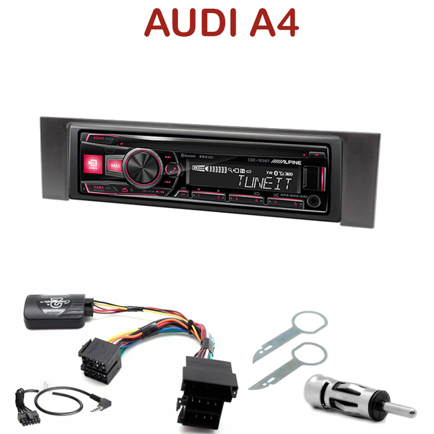 autoradio 1 din audi a4 poste cd usb mp3 bluetooth. Black Bedroom Furniture Sets. Home Design Ideas