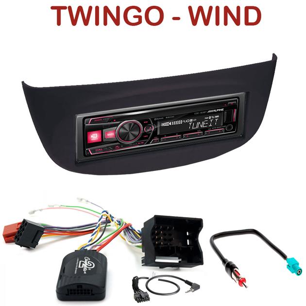 autoradio 1 din renault twingo ii wind poste cd usb mp3 bluetooth alpine renault. Black Bedroom Furniture Sets. Home Design Ideas