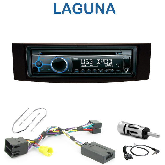 autoradio 1 din renault laguna 2 avec cd usb mp3 bluetooth. Black Bedroom Furniture Sets. Home Design Ideas