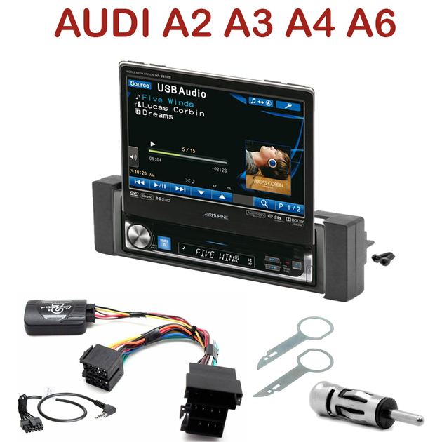Autoradio 1 din motoris alpine poste ccd dvd mp3 wma for Mueble 2 din audi a3