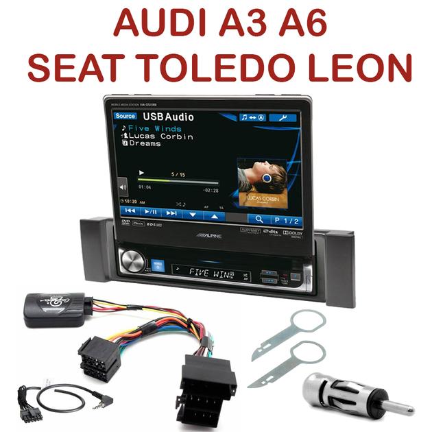 autoradio 1 din motoris alpine poste ccd dvd mp3 wma audi seat autoradios. Black Bedroom Furniture Sets. Home Design Ideas